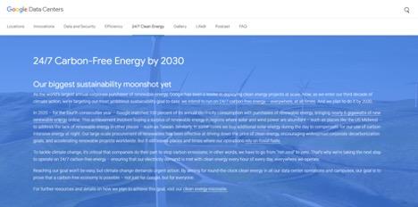 Google's carbon-free data centers pledge